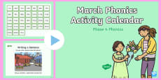 Phase 4 March Phonics Activity Calendar PowerPoint