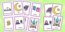 Despre Islam - Cartonașe pentru joc de memorie