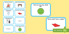 * NEW * Table Manners Flashcards