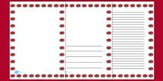 Ladybug Portrait Page Borders