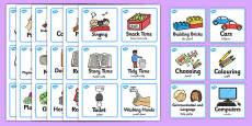 Visual Timetable Nursery FS1 Arabic Translation