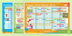 2016-2017 Academic Year A3 Calendar Planner