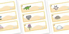 Rabbit Themed Editable Drawer-Peg-Name Labels