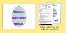 Egg Printing Craft EYFS Adult Input Plan and Resource Pack