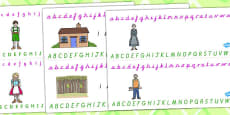 Hansel and Gretel Alphabet Strips