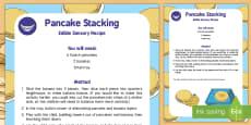 Pancake Stacking Edible Sensory Recipe