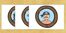 Pirate Ship Display Portholes
