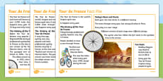 KS1 Tour de France Differentiated Fact File