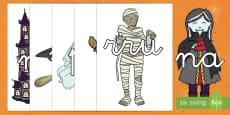 Halloween tarjetas de sílabas