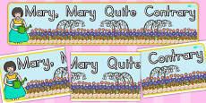 Mary, Mary, Quite Contrary Display Banner (Australia)