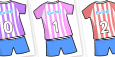 Numbers 0-100 on Football Strip