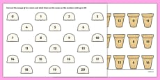Ice Cream Number Bonds to 20 Activity Sheet
