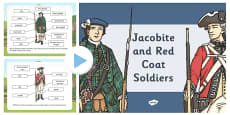 A Jacobite Soldier and a Red Coat Soldier PowerPoint