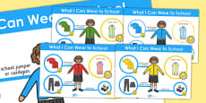 What I Can Wear to School Poster (Girls)