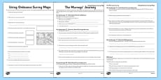 Using Ordnance Survey Maps Activity Sheet Pack - The Desperate Journey
