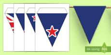 New Zealand Flag Display Bunting