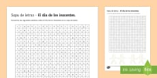 * NEW * April Fools' Day Higher Ability Differentiated Word Search Spanish
