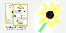 Hand Print Sunflowers Craft Instructions