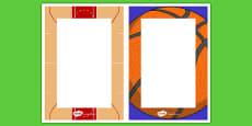 Basketball Themed Editable Notes
