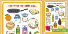 * NEW * Pancake Day Themed I Spy Activity