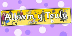 Family Album Themed Banner Welsh