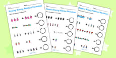 Sleeping Beauty Up to 10 Addition Sheets