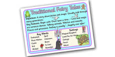 Story Genres Traditional Fairy Tale Display Poster