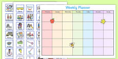 Toddler and Young Children Weekly Planner