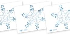 Snowflakes Editable