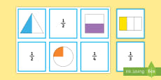 * NEW * Year 3 Fractions  Matching Cards