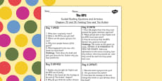 Guided Reading Questions Chapters 23 and 24 to Support Teaching on The BFG