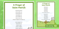 * NEW * A Prayer of Saint Patrick A4 Display Poster