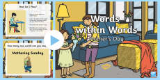 KS1 Words Within Words Game Mother's Day PowerPoint