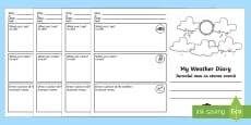 My Weather Diary Booklet Template English/Romanian