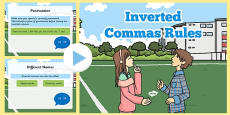 Inverted Commas Rules PowerPoint