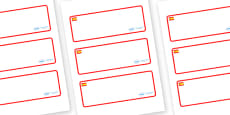 Spain Themed Editable Drawer-Peg-Name Labels (Blank)
