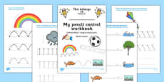 Line Handwriting Activity Sheets Polish Translation