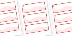 Kangaroo Themed Editable Drawer-Peg-Name Labels (Colourful)