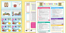 Home Corner Continuous Provision Plan Poster and Challenge Cards Pack Nursery FS1