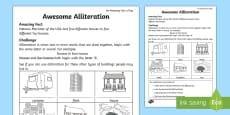 Awesome Alliteration Activity Sheet