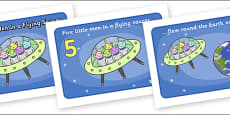 Five Little Men in a Flying Saucer Sequencing