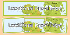 Locational Knowledge Display Banner