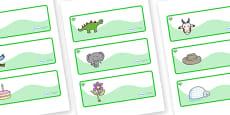 Emerald Themed Editable Drawer-Peg-Name Labels