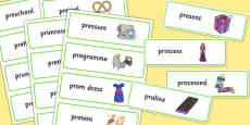Two Syllable PR Word Cards