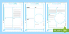 Differentiated Arctic Animal Fact File Activity Sheets