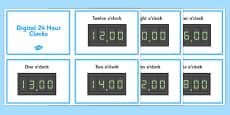 Digital Clocks - O Clock (24 Hour)