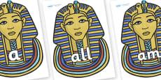 Foundation Stage 2 Keywords on Mummy Masks
