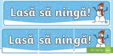 Lasă să ningă! - Banner