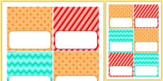 4th Birthday Party Editable Food Labels