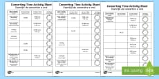 Converting Time Activity Sheets English/Romanian